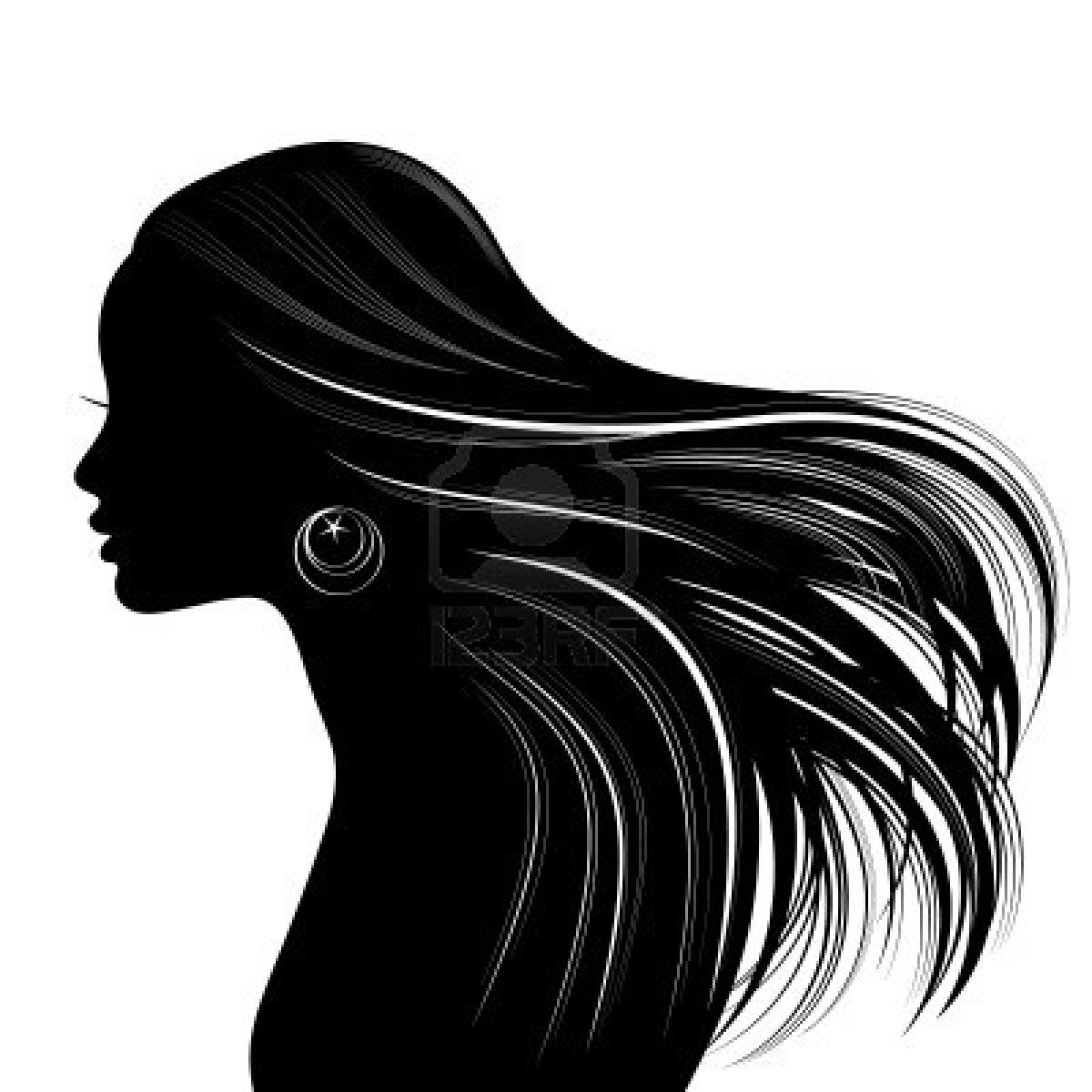 16301071 Woman Face Silhouette With Wavy Hair Zealous Art And Painting Parties